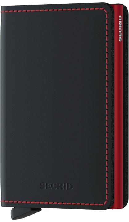 Slimwallet black red